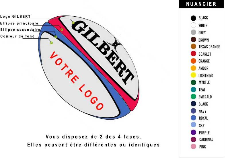 Personnalisez vos ballons de rugby avec votre logo et vos couleurs