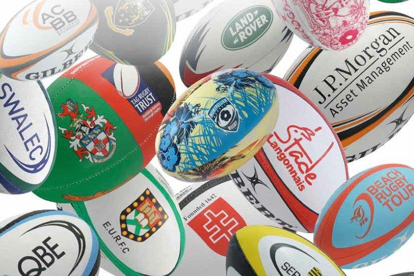 Ballon Club Rugby Personnalisés Gilbert