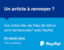 Pensez-y: Si vous payez par Paypal et que la chaussure ne vous convient pas, les frais de retours vous sont remboursés